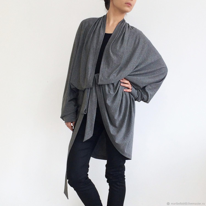 Cardigan womens Grey Long cardigan 'DIMA', Cardigans, Sofia,  Фото №1