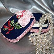 "Для дома и интерьера handmade. Livemaster - original item Box, flowers, ribbon, jewelry box with flowers ""tender is the Night"". Handmade."