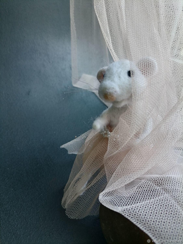Мышь из шерсти (войлочная игрушка), Войлочная игрушка, Тюмень,  Фото №1