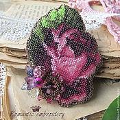 """Украшения ручной работы. Ярмарка Мастеров - ручная работа брошь """"винная роза"""". Handmade."""