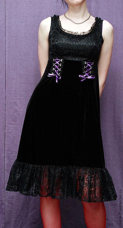 Платья ручной работы. Ярмарка Мастеров - ручная работа. Купить Игривое платье. Handmade. Бархатное платье, платье на заказ