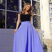 """Одежда ручной работы. Ярмарка Мастеров - ручная работа Юбка Макси """"Фиола""""- юбка длинная - юбка клеш - юбка в пол. Handmade."""