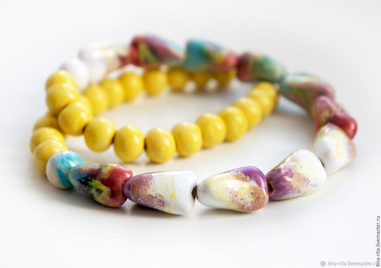 Ceramic beads 'Nectar', Necklace, Severobaikalsk,  Фото №1