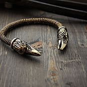 Украшения handmade. Livemaster - original item Bronze bracelet Ravens of Odin. Handmade.
