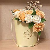 Букеты ручной работы. Ярмарка Мастеров - ручная работа Букеты из мыльных роз. Handmade.