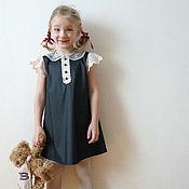 """Платье для девочки с кружевным воротничком и крылышками """"НАТАША"""""""