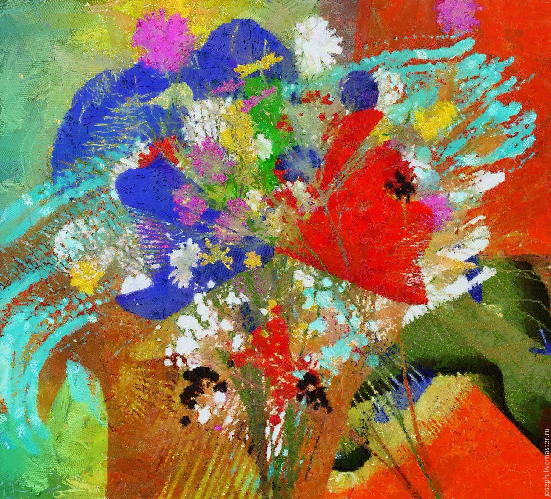 Абстракция живопись цветы
