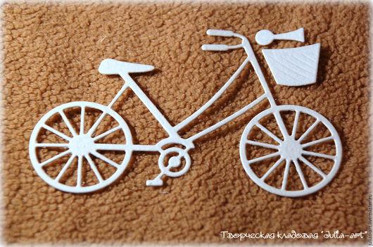 Открытки и скрапбукинг ручной работы. Ярмарка Мастеров - ручная работа. Купить Вырубка: велосипед. Handmade. Велосипед, скрапматериалы, скрапдекор