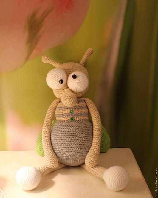 Игрушки животные, ручной работы. Ярмарка Мастеров - ручная работа. Купить комар. Handmade. Серый, зеленый, хлопок 100%
