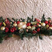 Декор ручной работы. Ярмарка Мастеров - ручная работа Новогодняя композиция - подсвечник. Handmade.