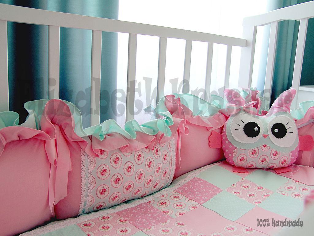 Оригинальные бортики для детской кроватки своими руками