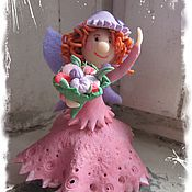 """Для дома и интерьера ручной работы. Ярмарка Мастеров - ручная работа Фигурка """"Цветочная фея"""". Handmade."""