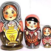 Народная кукла ручной работы. Ярмарка Мастеров - ручная работа Матрёшка Вера с самоваром  3 м 11 см. Handmade.