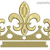 Дизайн и реклама ручной работы. Ярмарка Мастеров - ручная работа четыре короны  дизайн машинной вышивки. Handmade.