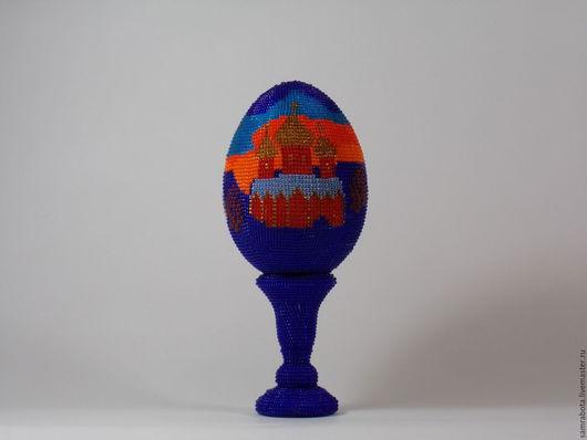 """Яйца ручной работы. Ярмарка Мастеров - ручная работа. Купить Пасхальное яйцо """"Закат"""". Handmade. Бисер чешский, яйцо пасхальное"""