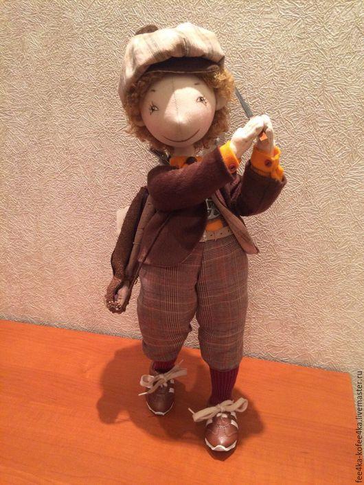 Коллекционные куклы ручной работы. Ярмарка Мастеров - ручная работа. Купить Гольфист! Клюшка, кеды, сумочка. Handmade. Подарок, гольф