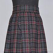 Одежда ручной работы. Ярмарка Мастеров - ручная работа Серая в складку . юбка. Handmade.