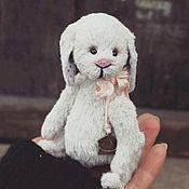 Куклы и игрушки ручной работы. Ярмарка Мастеров - ручная работа Зайка тедди Валентин. Handmade.