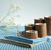Для дома и интерьера handmade. Livemaster - original item Candle holders, cut down a tree. Eco, rustic, country, Provence. Handmade.