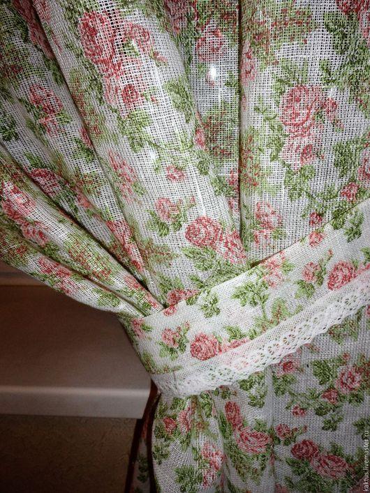 Текстиль, ковры ручной работы. Ярмарка Мастеров - ручная работа. Купить Шторы для кухни в стиле кантри. Handmade. Белый