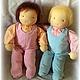 Вальдорфская игрушка ручной работы. Ярмарка Мастеров - ручная работа. Купить Большая кукла-младенец (с вшитыми ручками) 40 см. Handmade.