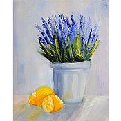 handmade. Livemaster - original item Oil painting flowers Still Life in the style of Provence. Handmade.