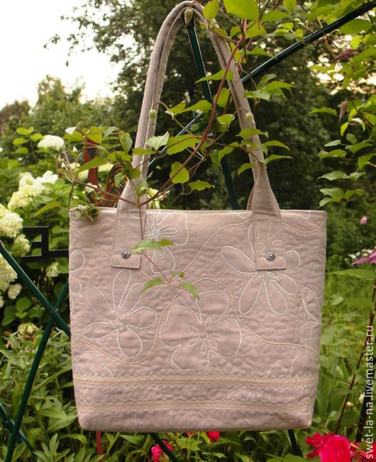 """Женские сумки ручной работы. Ярмарка Мастеров - ручная работа. Купить Женская текстильная сумка """"Белый лен"""". Handmade."""