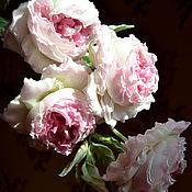 Цветы и флористика ручной работы. Ярмарка Мастеров - ручная работа Цветы  из шелка Роза Королева грез. Handmade.