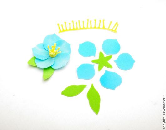 """Ткань для цветов ручной работы. Ярмарка Мастеров - ручная работа. Купить Вырубка из фоамирана """" Цветок -1 """". Handmade."""