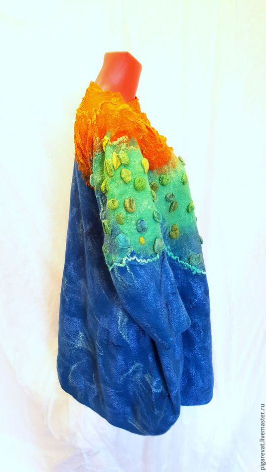 Для будущих и молодых мам ручной работы. Ярмарка Мастеров - ручная работа. Купить Валяное платье баллон Материки и океаны. Handmade.