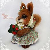 Куклы и игрушки handmade. Livemaster - original item Squirrel Zosia felted wool. Handmade.