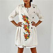 Одежда ручной работы. Ярмарка Мастеров - ручная работа Жаккардовое платье-пальто Жилетка. Handmade.