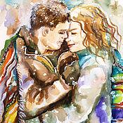 Картины и панно handmade. Livemaster - original item Picture of lovers Under the December snow. Handmade.