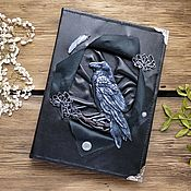Канцелярские товары handmade. Livemaster - original item Black notebook with black Raven. Handmade.