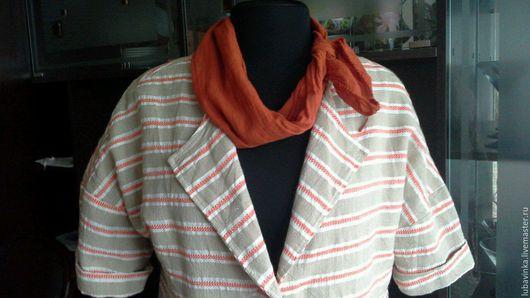 Пиджаки, жакеты ручной работы. Ярмарка Мастеров - ручная работа. Купить пиджак  Полосочка. Handmade. Комбинированный, стиль оверсайз