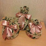 Подарки к праздникам ручной работы. Ярмарка Мастеров - ручная работа Мешочек для кулича с розами. Handmade.