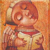 """Картины и панно ручной работы. Ярмарка Мастеров - ручная работа """"Сказка на ночь"""", сублимационная печать. Handmade."""