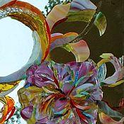 Для дома и интерьера ручной работы. Ярмарка Мастеров - ручная работа Мозаика-фьюзинг-пионы. Handmade.