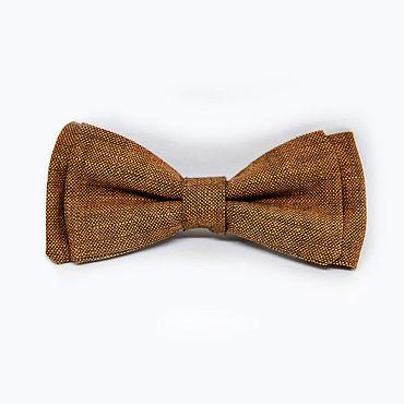 Accessories handmade. Livemaster - original item Bow tie brown textured cotton tweed. Handmade.