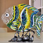 Для дома и интерьера ручной работы. Ярмарка Мастеров - ручная работа Сувенир в технике фьюзинг Рыба. Handmade.