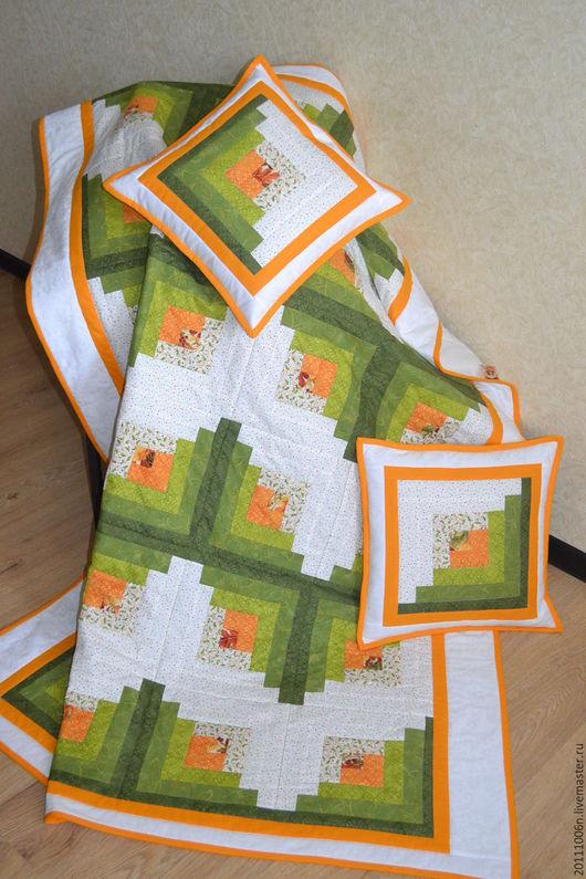 """Текстиль, ковры ручной работы. Ярмарка Мастеров - ручная работа. Купить лоскутное покрывало/одеяло""""ВЕСНА"""". Handmade. Комбинированный, лоскутное одеяло"""