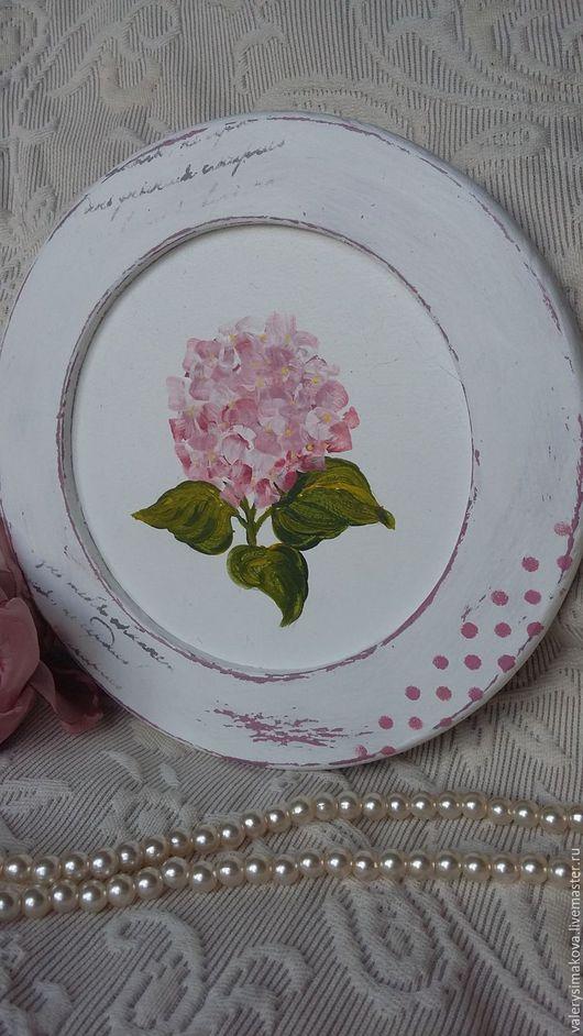 Картины цветов ручной работы. Ярмарка Мастеров - ручная работа. Купить РОЗОВАЯ ГОРТЕНЗИЯ. Handmade. Бледно-розовый, панно для интерьера
