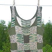 """Одежда ручной работы. Ярмарка Мастеров - ручная работа майка """" Природные лоскутки"""". Handmade."""