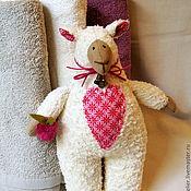 Куклы и игрушки ручной работы. Ярмарка Мастеров - ручная работа Тильда овечка - Боня с яблочком. Handmade.