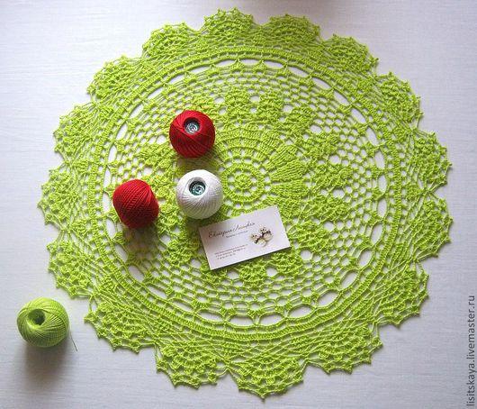 """Текстиль, ковры ручной работы. Ярмарка Мастеров - ручная работа. Купить Салфетка """"Лайм"""" 50 см. Handmade. Салатовый"""