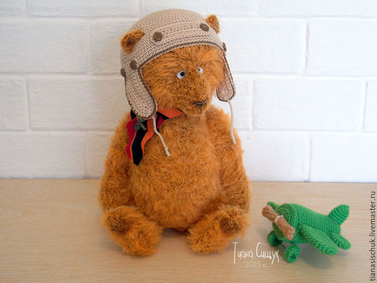 Мишки Тедди ручной работы. Ярмарка Мастеров - ручная работа. Купить Мишка Тедди Лётчик Потап (24 см). Handmade.
