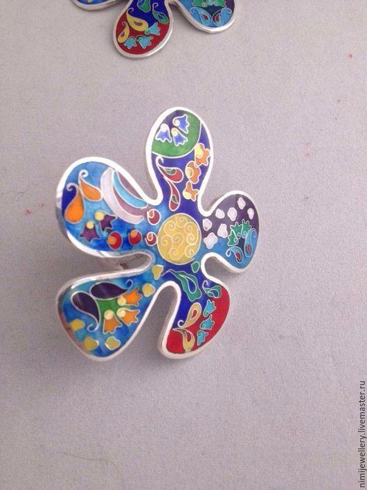 """Кольца ручной работы. Ярмарка Мастеров - ручная работа. Купить Кольцо """"Цветочки"""". Handmade. Подарок, серебро 925 пробы, красный"""