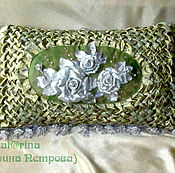 Для дома и интерьера handmade. Livemaster - original item Pillowcase on the pillow. Roses green silver.. Handmade.