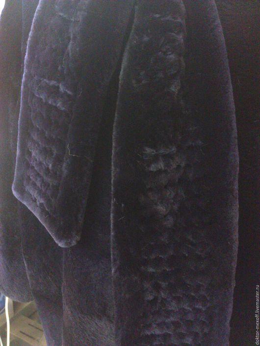 Верхняя одежда ручной работы. Ярмарка Мастеров - ручная работа. Купить Пальто меховое, шуба из фиолетового бобра. Handmade. шуба