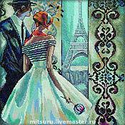 Картины и панно ручной работы. Ярмарка Мастеров - ручная работа Эффектные женщины в роскошных местах (Париж). Handmade.